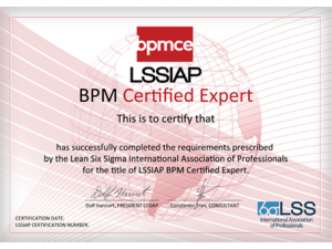 LSSIAP-BPM-EXPERT-Certification